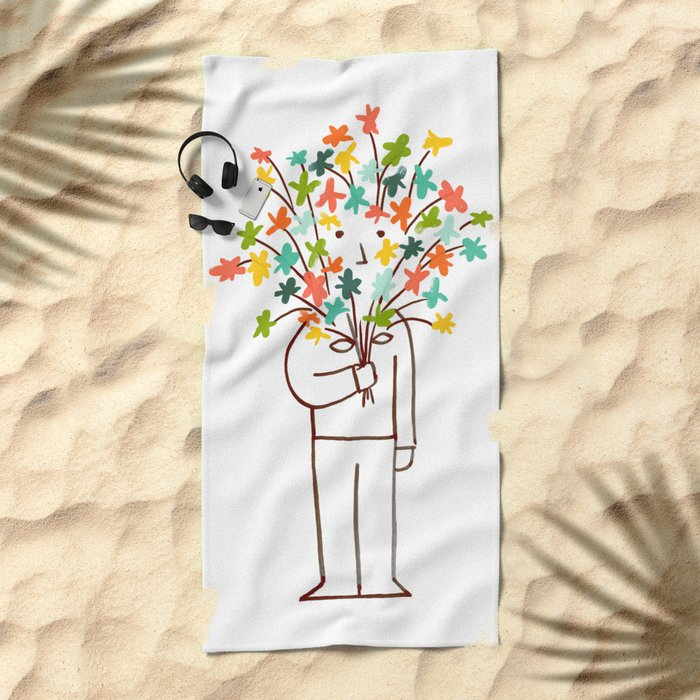 I bring flowers Beach Towel