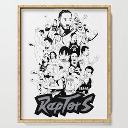 1995-2019 Raptors Serving Tray