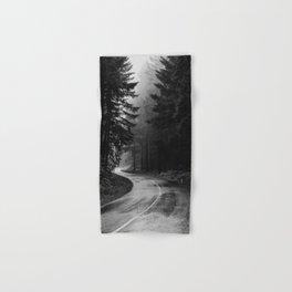 The Dark Path (Black and White) Hand & Bath Towel