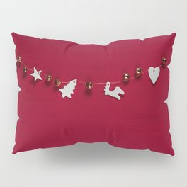 Christmas Decorations on Red (Color) Pillow Sham