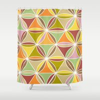 quilt Shower Curtains featuring august quilt by Ariadne