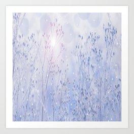 Winter Sparkle On A Sunny Frosty Day #decor #buyart #society6 Art Print