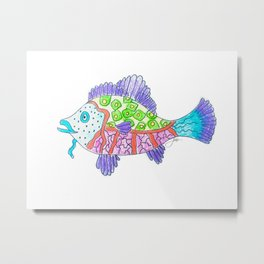 funky fish Metal Print