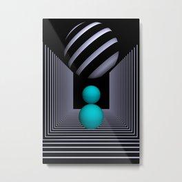 3D-geometry -12- Metal Print