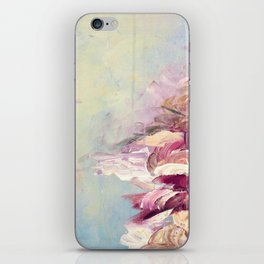 WINTER DREAMLAND 1 Colorful Pastel Aqua Marsala Burgundy Cream Nature Sea Abstract Acrylic Painting  iPhone Skin