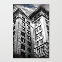 Boston [Sky cut 413] Massachussets, Usa Canvas Print