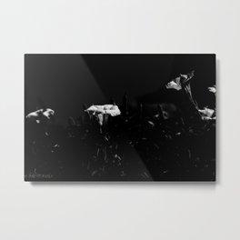 WHITE GLOW Metal Print