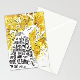 Mustard Seed Faith Tree - Matthew 17:20 Stationery Cards