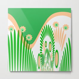 The green graphical design Metal Print