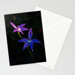 Orchid flower with expression Stationery Cards
