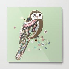 Curious owl Metal Print