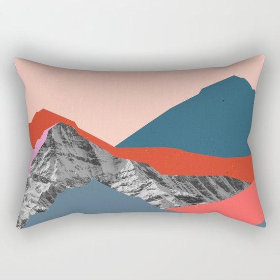 Graphic Mountains Rectangular Pillow