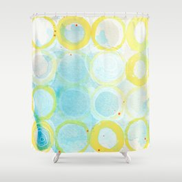 Paint Rings 02 Shower Curtain