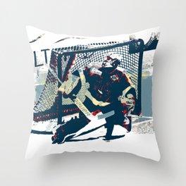 Goalie - Ice Hockey Player Throw Pillow