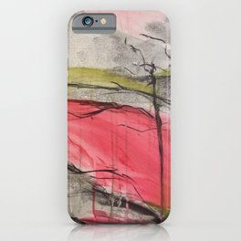 Pink Landscape. Color of Japan. Original Painting by Jodi Tomer. Abstract Artwork. iPhone Case