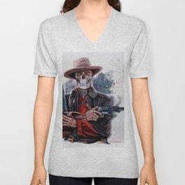 The Gunslinger - Dia De Los Muertos Unisex V-Neck