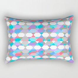 Octagons - Light Blue Rectangular Pillow
