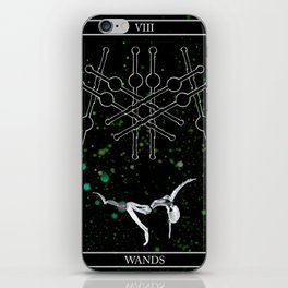 A Tarot of Ink 08 of Wands iPhone Skin