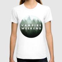vampire weekend T-shirts featuring Vampire Weekend trees logo by Elianne