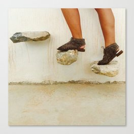 Feet in Greece Canvas Print