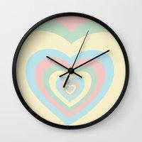 powerpuff girls Wall Clocks featuring I need a powerpuff girls heart~ by Sara Eshak
