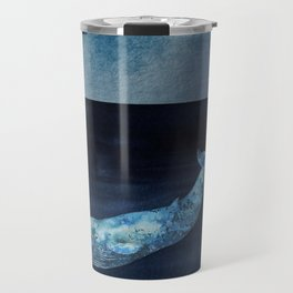 Blue Whale - Gold, Copper And Deep Blue Travel Mug
