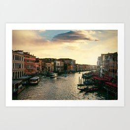 Venice on sunset Art Print