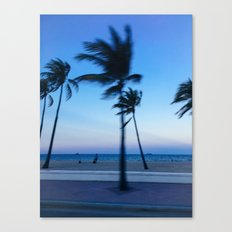 Palms in the Wind Canvas Print