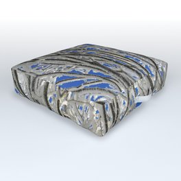 Frosted branches Outdoor Floor Cushion