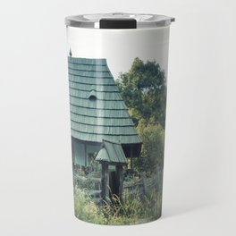 House in the mountains Travel Mug