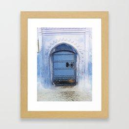 Blue Door / Porte originale/ Chefchaouen / by WHITEECO Ecologic design Framed Art Print