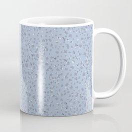 Grey Confetti on Medium Blue Coffee Mug