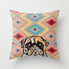 PUG Kilim Throw Pillow