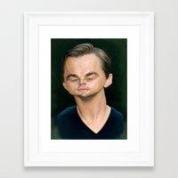 leonardo dicaprio Framed Art Prints featuring Leonardo DiCaprio by Sri Priyatham