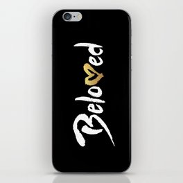 Beloved - White & Gold iPhone Skin