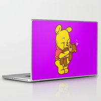 pooh Laptop & iPad Skins featuring Pooh And Teddy by Artistic Dyslexia