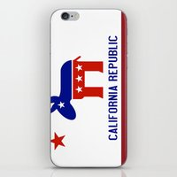 political iPhone & iPod Skins featuring Political California Republic Democrat by NorCal