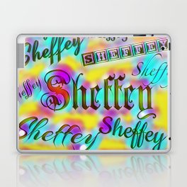 Sheffey Fonts - Yellow and Pink Rainbow 9642 Laptop & iPad Skin