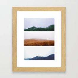 Seasons in Kyushu Framed Art Print