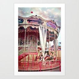 San Francisco Carousel Pier 39 Photo Print Art Print
