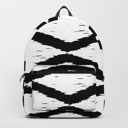 Black and White Tribal Ikat Pattern Backpack