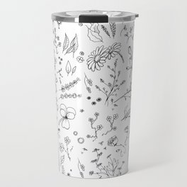 Sketchy flowers Travel Mug