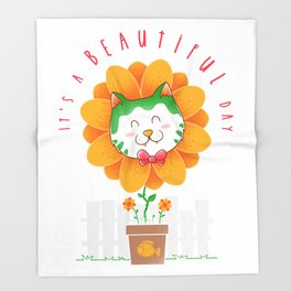 It's a Beatiful Day Throw Blanket