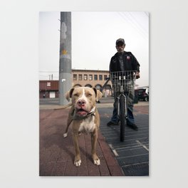 Cheesin' Canvas Print