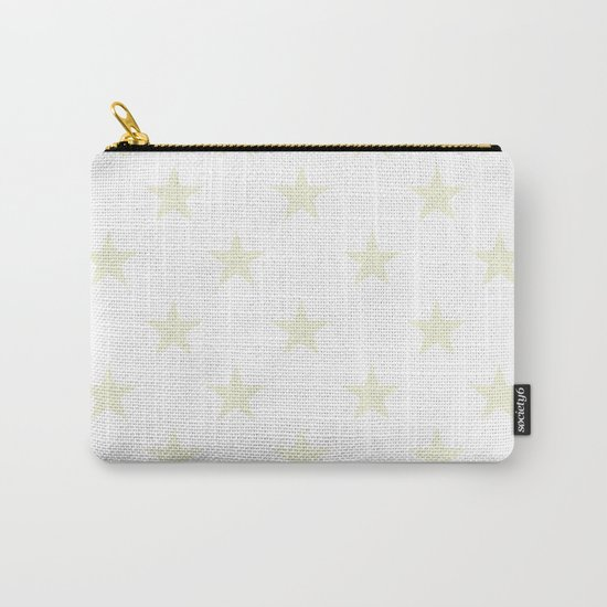 Stars (Beige/White) Carry-All Pouch