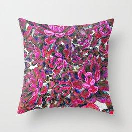Floral tribute [red velvet] Throw Pillow