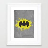 bat man Framed Art Prints featuring Bat Man by Some_Designs