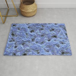 Lavender blue marble relief Rug