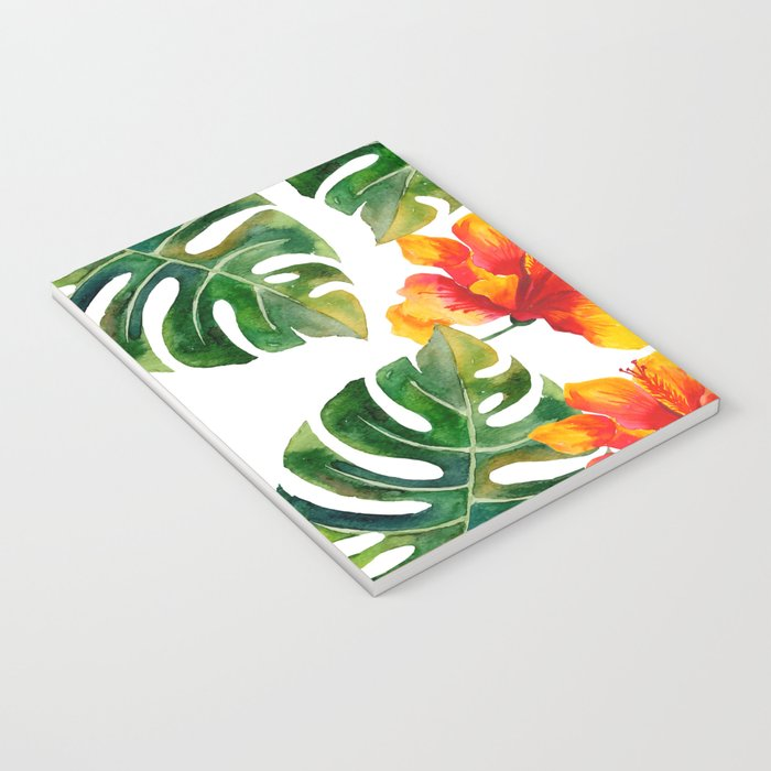Monstera And Hibiscus Notebook