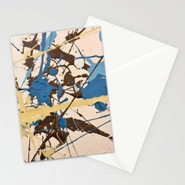 Miniature Original - blue brown beige Stationery Cards